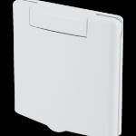 Quadratische Saugdose PVC weiß